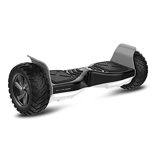 City Cruiser Hoverboard Off Road All Terrain 8.5' Wheels Electric Self Balancing Scooter with Wireless Bluetooth Speaker, LED Lights, UL Certified, Charger for Kids and Adults Having Fun with You