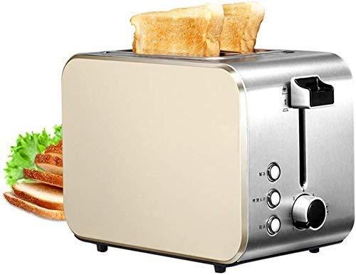 Allamp Tostadora, Inicio 2 rebanadas Desayuno tostadora 7 de Acero Inoxidable a la Plancha tostadora Controlador Principal Mustaster lxhff
