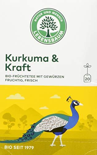 Lebensbaum Wanderlust Im Teebeutel - Einzeln Kuvertiert - Kurkuma & Kraft, 40 g