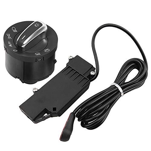 Ymhan Interruptor de Control de la lámpara de Coches Headling Fog + Sensor Faro for Jetta Golf V Vi 5 6 Jetta Passat B6 Touran (Color : Black)