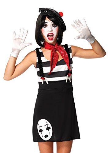 Leg Avenue J49073 – Miss Mime Costume, 4 pièces, Taille M/L, Noir/Blanc