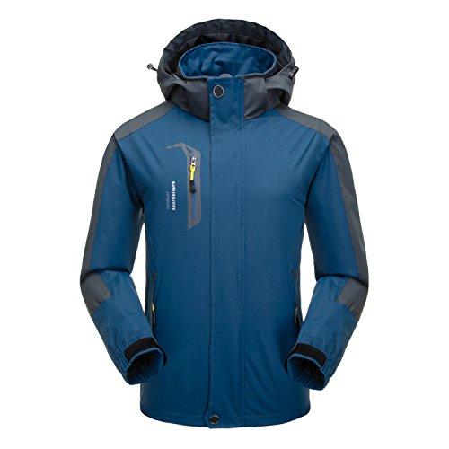 Naudamp Hommes Veste Imperméable en Plein Air Légère Softshell Manteau De Pluie Escalade Vêtements De Randonnée Montagne Multi-Poches Coupe-Vent