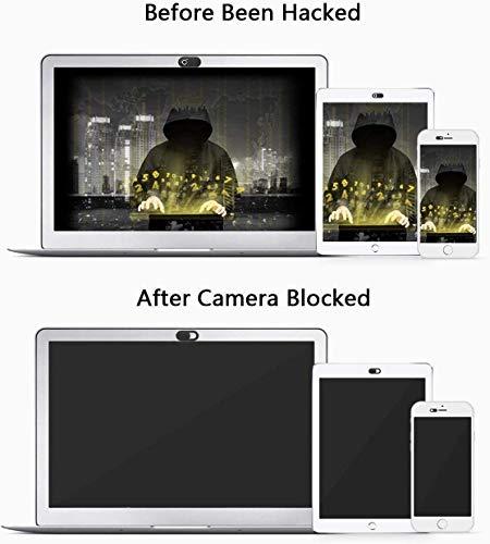 ivoler [3er Set Webcam Abdeckung, Slider Camera Cover Ultra dünne Webcam Cover Privacy-Schutz Kamera Abdeckung für MacBook, iPad, iPhone, Laptop, PC, Smartphones, Tablets, etc. - (Schwarz)