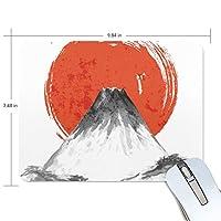 Jiemeil マウスパッド 高級感 おしゃれ 滑り止め PC かっこいい かわいい プレゼント ラップトップ などに 富士山 風景 漁船 和風 水墨画