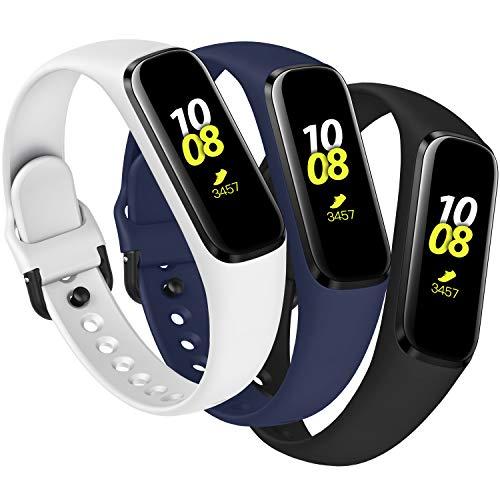 KIMILAR 3 Piezas- Correa Compatible con Samsung Galaxy Fit E (No Compatible con Galaxy Fit/Fit 2), Correa de Recambio Silicona Reemplazo de Banda de la Muñeca Pulseras de Repuesto para Fit E 2019