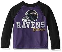 NFL Baltimore Ravens Boys Long Sleeve TEAM TEE SHIRT, Team Color, 2T
