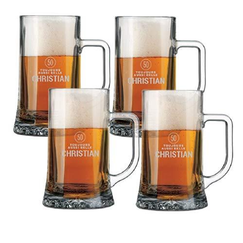 YourSurprise Bierkrug mit Gravur - Bierkrug Gravur mit Name oder Text, spülmaschinentauglich (4)