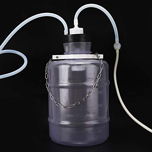 Melkmaschine, langlebiges praktisches Kuhmelk-Kit Kunststoff 3L Tragbar für Kuh zum Melken Maschine für Ziege zum manuellen Melken(For sheep, black)