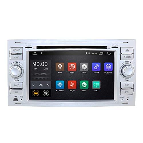 JIBO Android 10 Doble Estruendo Auto Radio GPS Navegación 7' Tocar Pantalla WiFi 4G SWC Teléfono Control Estéreo Multimedia Jugador Nav Sat por Ford Kuga 2008-2012 Carro Cabeza Unidad
