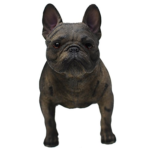 "Comfy Hour Doggyland Collection, Miniature Dog Collectibles 6"" Standing French Bulldog Figurine, Realistic Lifelike Animal Statue Home Decoration, Brindle, Polyresin"