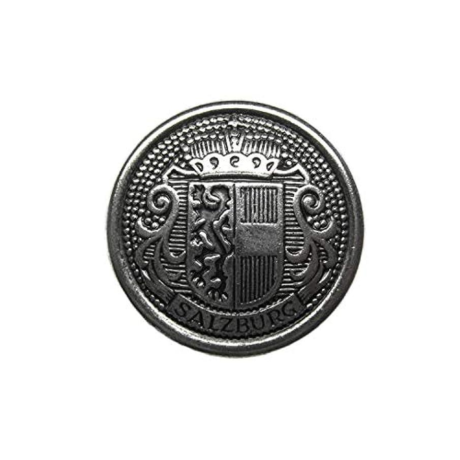 ButtonMode Salzburg Crest Design Metal Blazer Buttons 12pc Set Includes 4 Jacket Front Buttons x 19mm (3/4 Inch), 8 Jacket Sleeve Buttons x 15mm (9/16 Inch), Antique Silver Color Metal, 12-Buttons