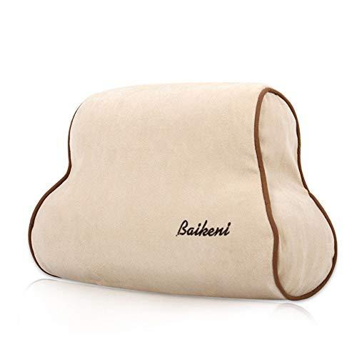 Joycaling Almohada lumbar de apoyo lumbar, cojín de espuma viscoelástica, respaldo ortopédico para asiento de coche, oficina, silla de ordenador, corrección de postura (color café)