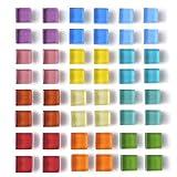 Paquete de 48 imanes de nevera de vidrio para nevera, imanes de color decorativos, para oficina, taquilla, para pizarrón blanca