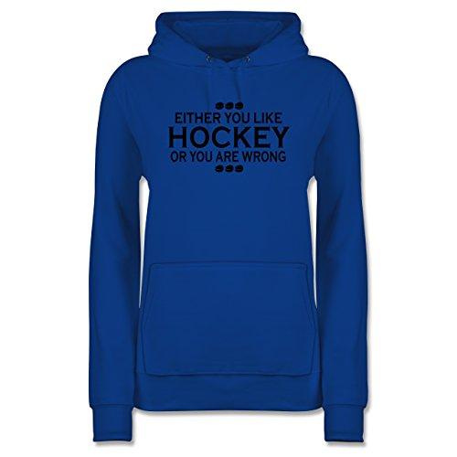 Eishockey - Like Hockey - M - Royalblau - Damen Pulli - JH001F - Damen Hoodie und Kapuzenpullover für Frauen