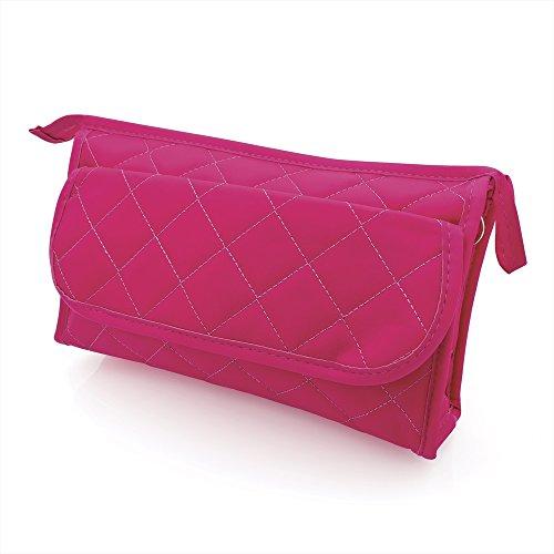 Grand point rose motif Make Up sac cosmétique sac à main – Accessoires de Beauté