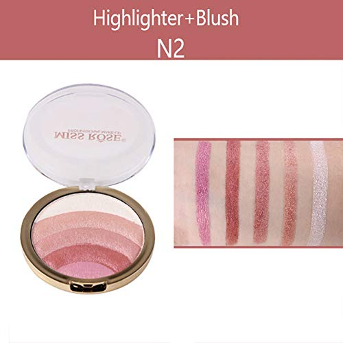 WFZ17 Beauty - Iluminador de sombra de ojos profesional para mujer, 10 g, colorete al horno, bronceador, colorete y sombra de ojos