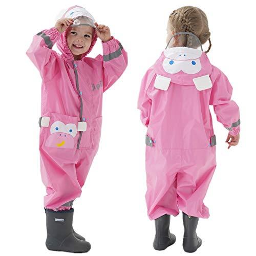 Dziecięcy płaszcz przeciwdeszczowy z kapturem, dla chłopców i dziewczynek, kombinezon przeciwdeszczowy, oddychający, uniseks, ponczo przeciwdeszczowe, lekkie, odporne na deszcz peleryna przeciwdeszczowa z kieszenią, odzież przeciwdeszczowa