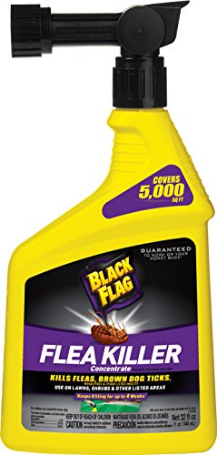 Black Flag HG-11095 Ready-to-Use Flea and Tick Killer Yard Spray Concentrate, 32-Ounce