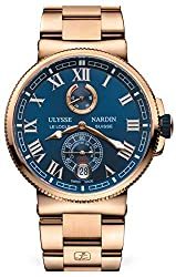 Ulysse Nardin Solid Rose Gold Marine Chronometer Manufacture 43mm Mens Watch
