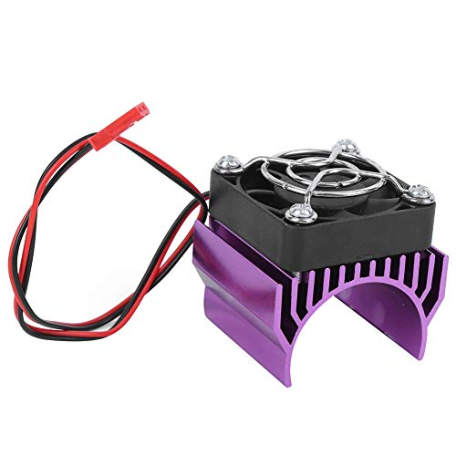 Dilwe 36MM Motor Kühlkörper Kühler Fin Fahrzeuge Kraftteile Passend für RC Car 540/3650/3660/3670 Motor Kits im Maßstab 1:10(Lila)