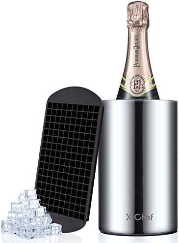 X Chef Wine Chiller Bottle Cooler for Wine Champagne 304 Stainless Steel Double Wall Insulated product image