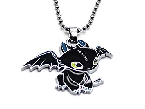 KeySmart Drachenzähmen leicht gemacht Halskette mit süßem Ohnezahn Drachen Anhänger