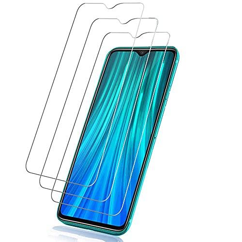 Hanbee Cristal Templado Xiaomi Redmi Note 8 Pro [3 Unidades], Protector Pantalla Xiaomi Redmi Note 8 Pro, Alta Definicion, Protector Pantalla Xiaomi Redmi Note 8 Pro