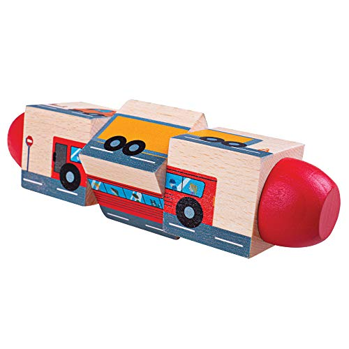 Bigjigs Toys Wooden Vehicle Twist Blocks