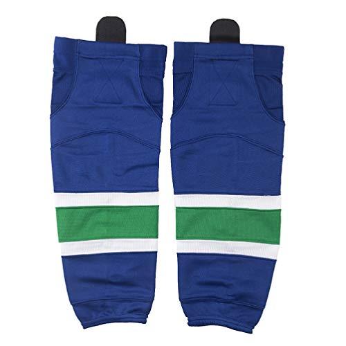 COLDINDOOR Cold Indoor Eishockey-Socken für Erwachsene, geeignet für Kinder bis Senior, Jungen, Blau 07, X-Small(20-22 Inch)