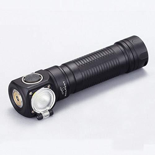 BrighBulb H04F RC XM-L2 1200lm 2 Modos de Grupo USB Recargable LED Faro 18650 LED Linterna-Blanco Neutro