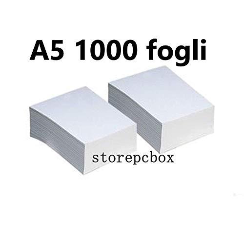 Storepcbox - Risma Carta Fotocopie, Formato A5, ideale per ricetta dematerializzata, 75 grammi, 1000 fogli
