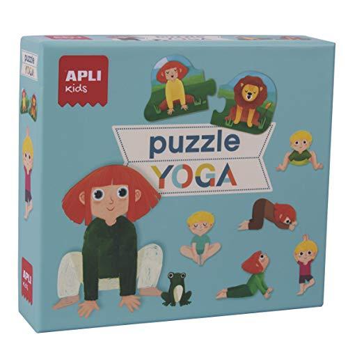APLI Kids- Puzle Dúo Expressions Collection Juego de Puzzles Con Las Posturas Del Yoga, 24 Piezas, Multicolor (18203)