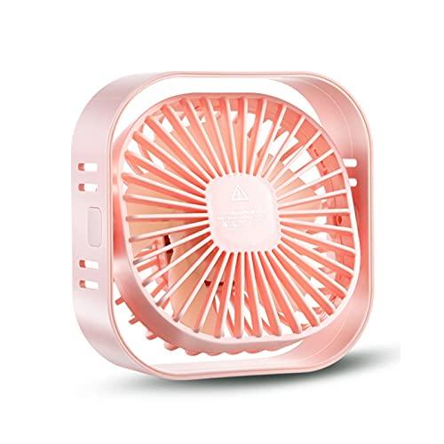 Ventilador Portátil, Ventilador de mesa USB, 12 cm Mini Desk Fan Usar, portátil y personal para el hogar y la oficina tranquila y potente, 3 engranajes se pueden ajustar, 360 ° Flip ( Color : Pink )