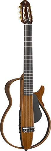 Yamaha SLG200N NW Nylon String Classical Silent Guitar with Hard Gig Bag, Natural