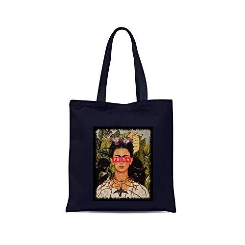 all sas - Shopper, Frida Kahlo, 100% Baumwolle, Druck, Made in Italy