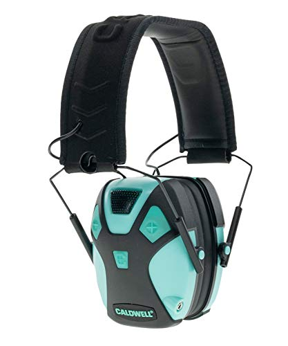 Caldwell E-Max PRO - ADULT Aqua - Low Profile Electronic 23 NRR Hearing Protection with Sound...