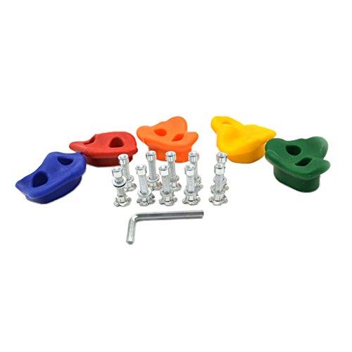 Toygogo 5pcs / Set Color Mezclado Surtido Escalada Rock Wall Stones Presas De Escalada con Fijaciones Juguete De…