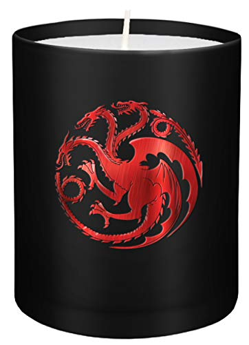 Game of Thrones: House Targaryen Large Glass Candle