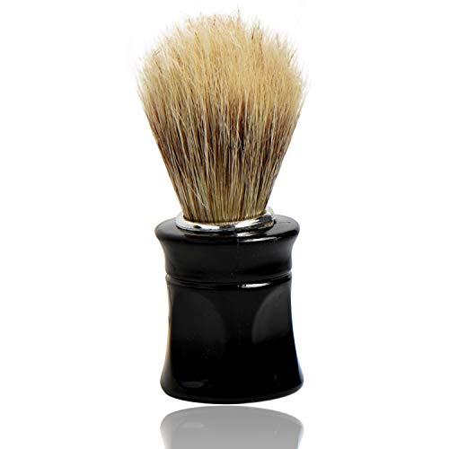 Titania Blaireau de rasage en poils naturels avec manche noir sur carte blister 35 g