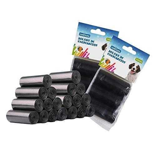 Nobleza-1080Stück Hundekotbeutel Haustier Große Kotbeutel für Hunde Auslaufsicher Geruchlose Extra Dick, Farbe Schwarz