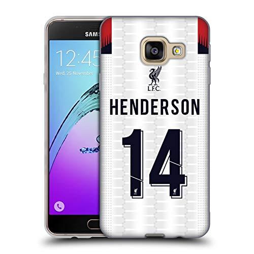 Ufficiale Liverpool Football Club Jordan Henderson 2019/20 Giocatori Away Kit Gruppo 1 Cover in Morbido Gel Compatibile con Samsung Galaxy A3 (2016)