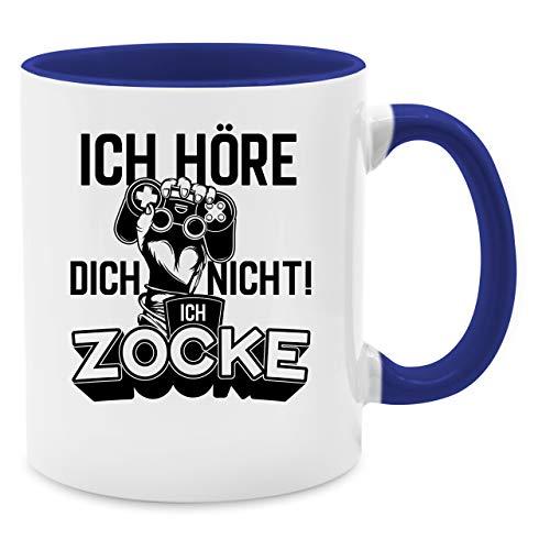 Shirtracer Tasse Hobby - Ich höre Dich Nicht ich zocke Controller Hand Schwarz - Unisize - Dunkelblau - Geschenke für zocker Tasse - Q9061 - Kaffee-Tasse inkl. Geschenk-Verpackung