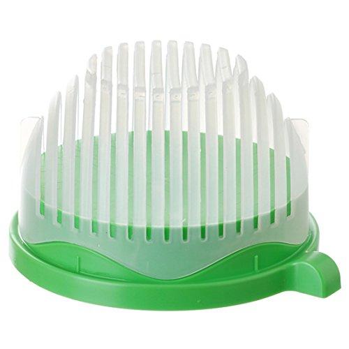 kiss me Salatschneider Schlüssel Teilig Set Sieb Salatschleuder, Salad Bowl Cutter Maker Gemüseschneider Schüssel, 3 in 1, Obst Gemüse Salat in 60 Sekunden (Green)