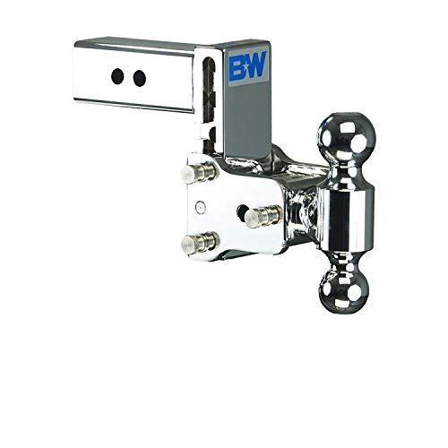 TS20037C Tow and Stow Chrome Dual-Ball Mount for 2-1/2 Inch Receivers