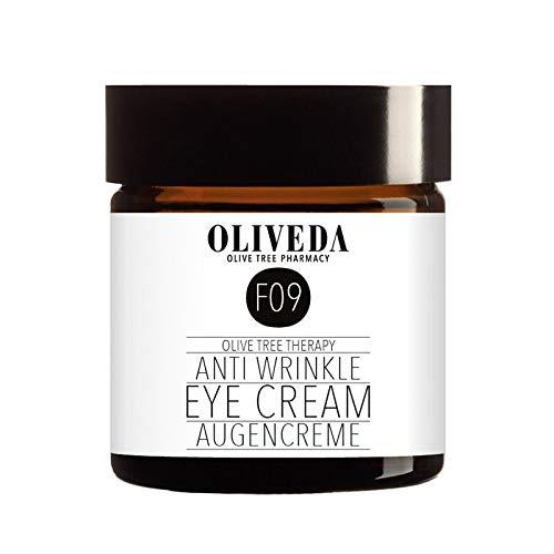 Oliveda F09 – Crème contour des yeux anti-rides | Traitement pour cernes foncées, gonflements, ridules et ridules, 30 ml