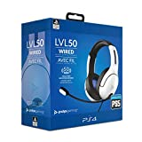 PDP Gaming - Auriculares Con Cable LVL50 Con Licencia Oficial PS4 / PS5 (Color Blanco)...