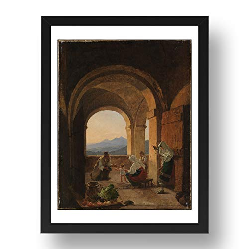Period Prints Franz Ludwig Catel: Primeros pasos ca. 1820 25, arte vintage,...