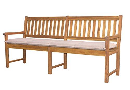 GRASEKAMP Qualität seit 1972 Kissen Gartenbank Akazie 200cm - Sand
