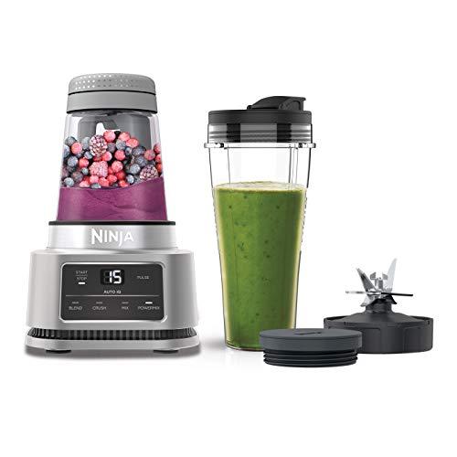 Ninja Foodi 2-in-1 Power Nutri Mixer mit Becher (700 ml) und Schüssel (400 ml), 1100 W, Smart Torque-Motor und Auto-iQ-Technologie [CB100EU], silver
