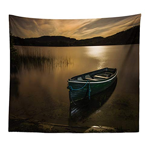 GenericBrands Alpine Lake with Dramatic Sky Forest and Mountains Nature Tree Tapestry Wall Hanging for Bedroom Living Room Dorm